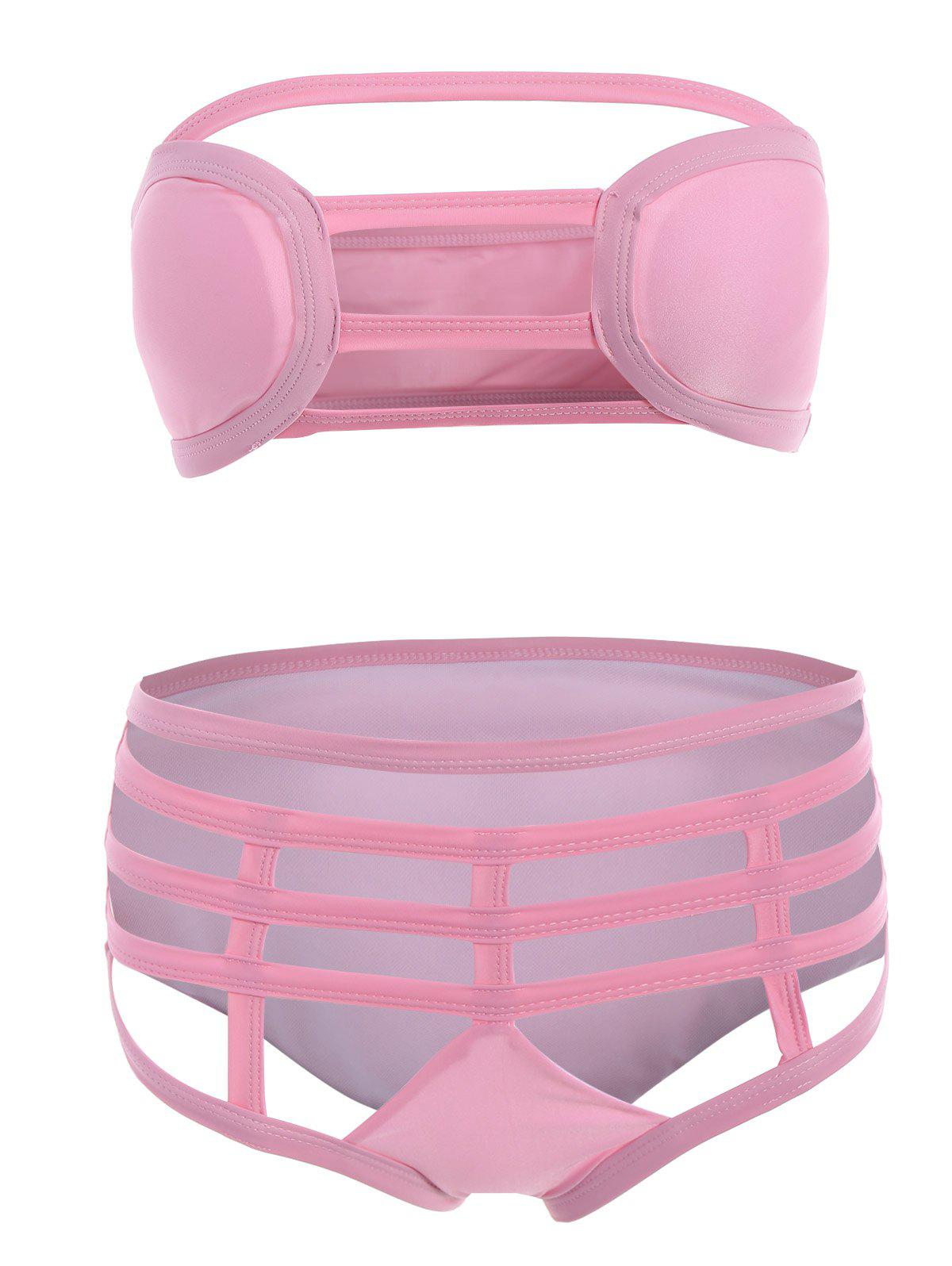 New Strapless Cut Out Bikini Set