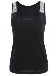 U Neck Sequin Tank Top