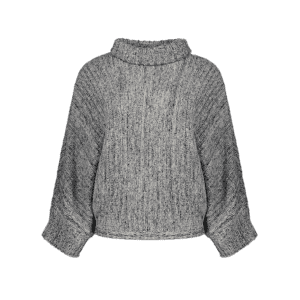 Turtle Neck Marled Batwing Sweater -