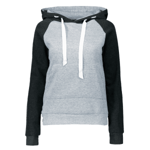 Color Block Drawstring Hoodie with Front Pocket -