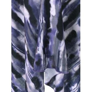 Asymmetrical Plus Size Tie-Dye T-Shirt -
