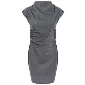 Pencil Cap Sleeve Ruched Dress