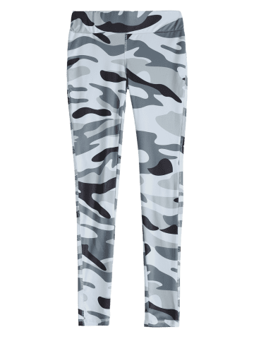 Fashion Camouflage High Waist Sport Pants - S ARMY GREEN CAMOUFLAGE Mobile