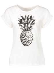 Pineapple Print Round Neck T-Shirt