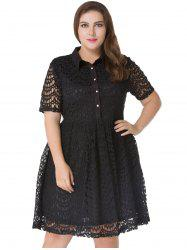 Plus Size Lace A Line Dress