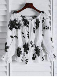 Floral Embroidered Off The Shoulder Top -