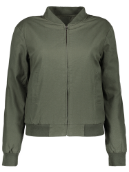 Fitting Thick Bomber Jacket - ARMY GREEN L