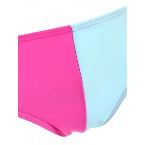 Chic Color Block Stretchy Briefs For Women - BLUE S
