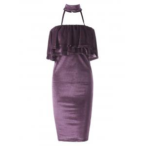 Robe en velours Body Dress - Pourpre S