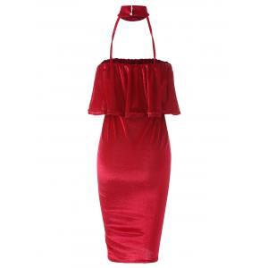 Robe en velours Body Dress - Rouge S