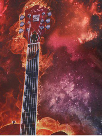 Latest Guitar Printed Galaxy Tee - XL RED Mobile