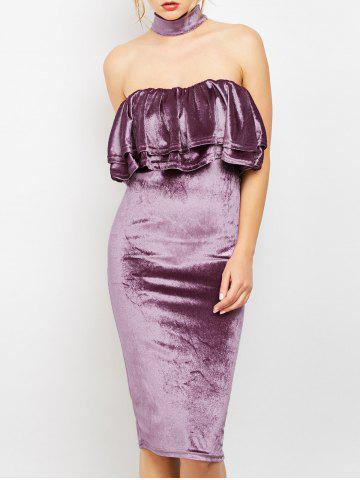 Robe en velours Body Dress Pourpre S