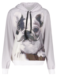 Cartoon Dog Print Hoodie
