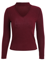Rib Knit Choker Jumper