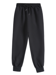 Drawstring Jogger Sweat Pants - BLACK L