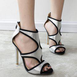 Hollow Out Peep Toe Sandals
