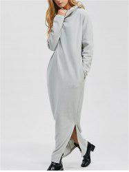 Maxi Long Sleeve Casual Slit Dress