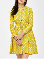 Lace Polka Dot Peter Pan Collar Mini Dress