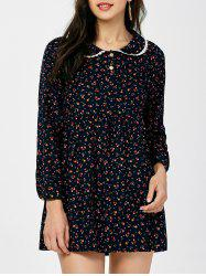 Peter Pan Collar Tiny Floral Dress