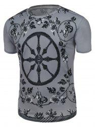 Short Sleeve Floral Graphic Tee