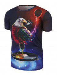 Bald Eagle Printed Galaxy T-shirt