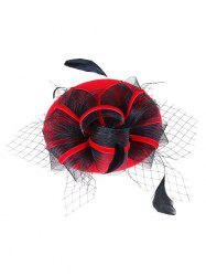 Fascinator Mesh Embellished Pillbox Hat