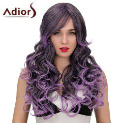 Adiors Long Side Bang Wavy Double Color Synthetic Wig
