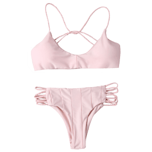 Cami Criss Cross Strappy Bikini Bathing Suit -