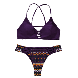 Cami Geometric Pattern Bikini Set -