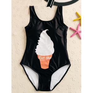 Ice Cream Print Backless Padded Swimwear
