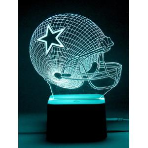 Remote Control Color Change 3D Visual Rugby LED Night Light -