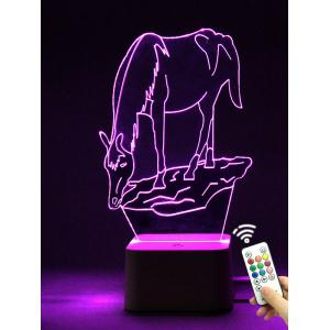 Color Changing Atmosphere 3D Led Night Light with Remote Control