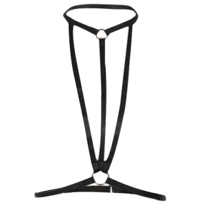Harness Bra Bondage Geometric Body Jewelry - BLACK