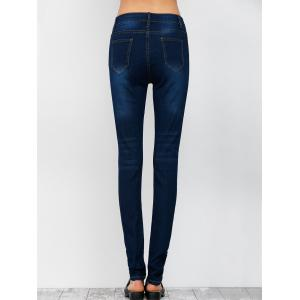 Low Rise Ripped Skinny Jeans -