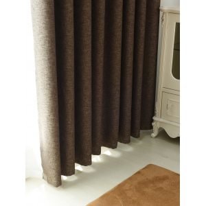 1Pcs Shading Grommet Perforated Blackout Window Curtain -