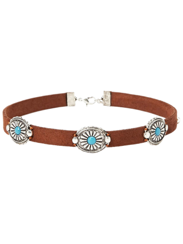 Cheap Punk Style Faux Leather Blossom Choker