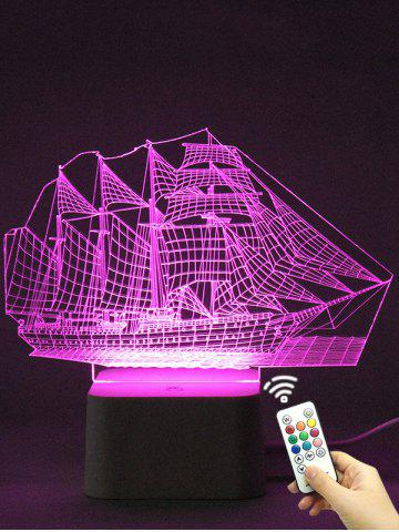 Buy Colorful 3D Visual LED Ship Shape Touch Night Light With Remote Control - TRANSPARENT  Mobile