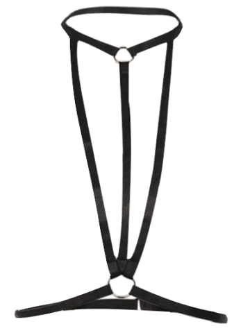 Outfit Harness Bra Bondage Geometric Body Jewelry - BLACK  Mobile