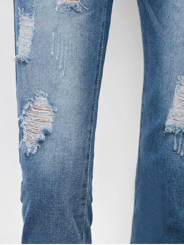 Buy Ripped Cropped Jeans - S DENIM BLUE Mobile