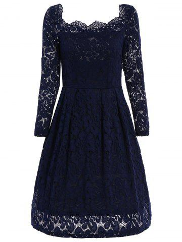 Buy Off The Shoulder Lace Swing Dress