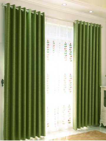 Store 1Pcs Shading Grommet Perforated Blackout Window Curtain