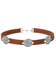 Punk Style Faux Leather Blossom Choker -
