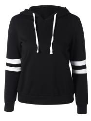 Long Sleeve Sports Color Block Hoodie