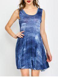 Sleeveless Tie-Dye High Waist Dress