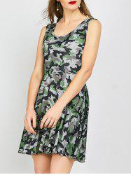 Sleeveless Camo Summer Dress