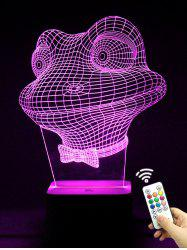 Colorful 3D Visual LED Touch Remote Control Frog Night Light