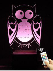 3D Visual LED Touch Remote Control Colorful Owl Night Light -