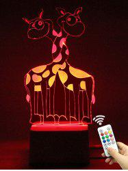 Color Change 3D Giraffe LED Night Light with Remote Controller