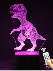 Télécommande de changement de couleur 3D Dinosaur LED Night Light - Transparent