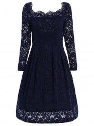 Off The Shoulder Lace Swing Dress -